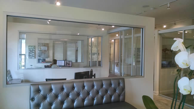 Gendusa Glass Works Office Glass Dividers